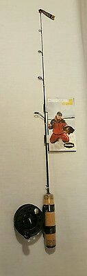 """New Frabill 6836 Straight Line 101 Ice Fishing Combo 27"""" Quick Tip Rod & Reel"""
