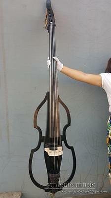 3/4 Upright Double bass black Powerful Sound Solid wood high quality #1435