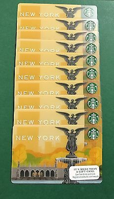 STARBUCKS GIFT CARDS 2014 NEW YORK NYC Central Park Lot 10