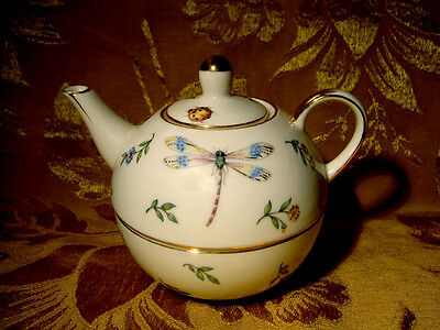 Skye Mcghie *conservatory* Porcelain Stacking Teapot Set Dragonfly Butterfly