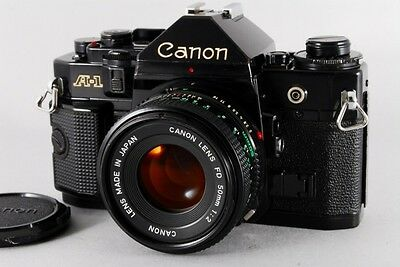 Exc++++ CANON A-1 35mm SLR Film Camera New FD 50mm f/1.4 NFD from Japan #1557