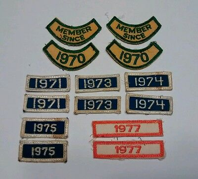 Lot 14 patches NCHA 1970, '71, '73, '74, '75, '77 DATE YEAR PATCH Member Since