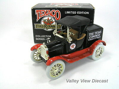 Ertl 1/25 Texaco 1918 Ford Runabout Bank Ltd Ed - #5 In Series - Mint In Box
