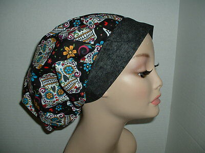 Day of Dead Sugar Skulls Bouffant OR Surgical Scrub Hat CNOR CORT