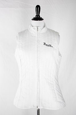 Spyglass Hill Pebble Beach Women's S White Quilted Zip Up Vest Insulated