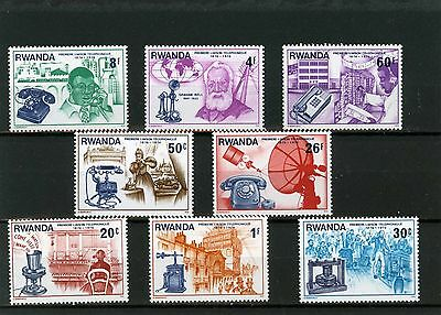 RWANDA 1976 Sc#746-783 COMMUNICATIONS/TELEPHONE SET OF 8 STAMPS MNH