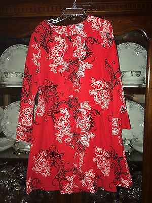 Valentines Dress From Hartstrings Damask Print Ruffle Accent Size 8
