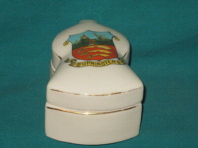 Swan China Pillbox & Lid - UPMINSTER [London] crest