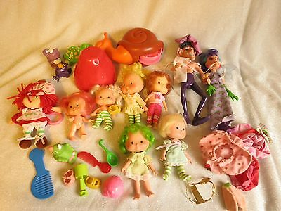 Vintage Strawberry Shortcake And Friends Large Mix Lot