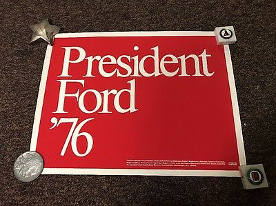1976 Original President Gerald Ford Presidential Campaign Political Poster