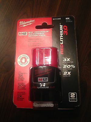 Milwaukee M12  Redlithium Battery  pack3.0 Compact