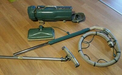 Vintage ELECTROLUX Canister Vacuum ~ Model L  & attachments w/cord retract