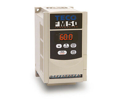 1 HP, Single Phase 230 Volts, 3 Phase Out for Motor, Teco, FM50-201-OC Speed