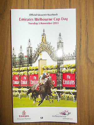 Melbourne Cup 2011 Racebook  *new* Never Used