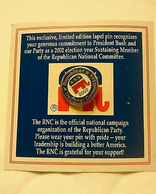 Republican Party 2002 GOP USA National Committee RNC Lapel Pin