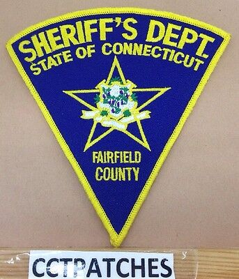 Fairfield County, Connecticut Sheriff (Police) Shoulder Patch Ct