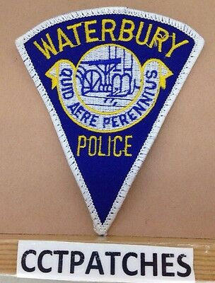 Waterbury, Connecticut Police (Triangle) Shoulder Patch
