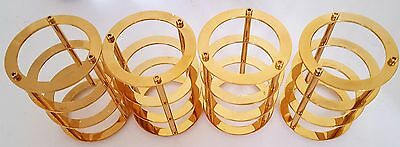 4x 130*90mm Gold Vacuum Tube Guard Protector Cover for 300B 2A3 845 805