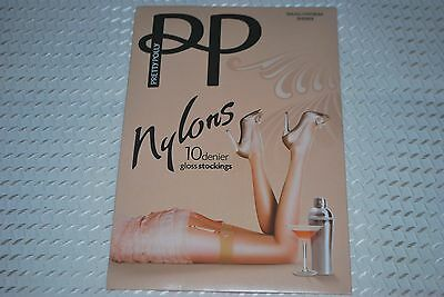 """1 Pair New Size S/M """"Pretty Polly"""" Reinforced Heel Toe Vintage Nylon Stockings"""