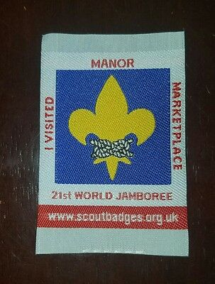 """Boy Scout 2007 World Scout Jamboree """"I Visited Manor Marketplace"""" Patch"""