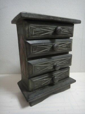 Asian Wooden Drawer Case Accessory Box Beautiful Style