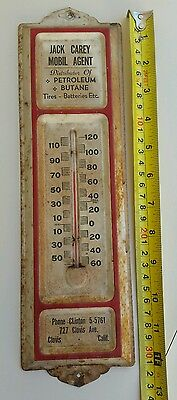 Vintage Thermometer Tire Battery Garage Advertising Motor Oil 1950 - Working