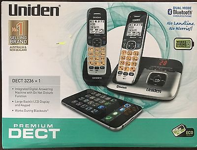 Uniden DECT 3236+1 DECT Digital Cordless Phone System with Bluetooth (Brand New)