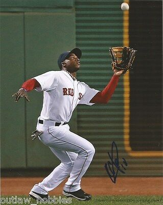 Boston Red Sox Rusney Castillo Signed Autographed 8x10 Photo COA A