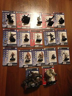 Star Wars Miniatures Collection (16 Rare/Super Rare + 70 Uncommon)