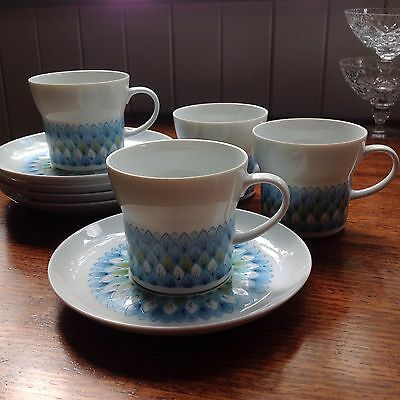 "Noritake  4 cups and saucers ""Younger Image"""