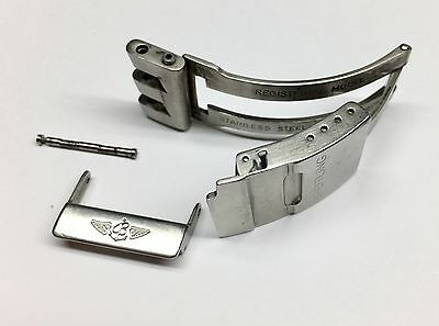 Genuine Breitling Gent Watch Stainless Steel Deployment Clasp 20Mm