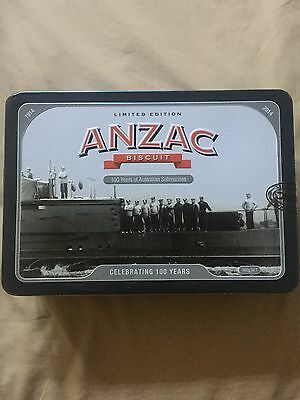 Anzac Biscuit Tin- 100 Years If Submarines 2014