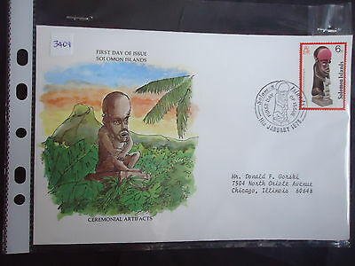 solomon islands 1978 ceremonial artifacts first day cover