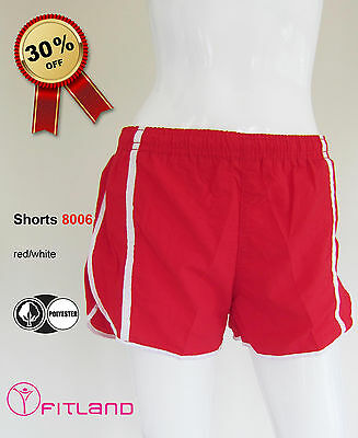 Women's Shorts from Brazil, Activewear, red, Fitland, new, sz 8, 10, 12, S, M, L
