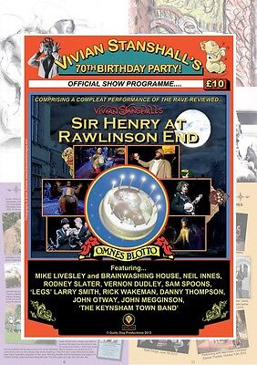 Vivian Stanshall's 70th Birthday Party Programme Sir Henry at Rawlinson End, New