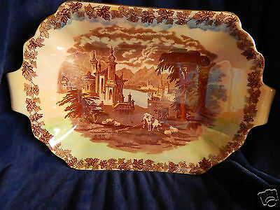 MALING CHINA ,Vintage COUNTRY.SCENE  LARGE.DISH.SERVER