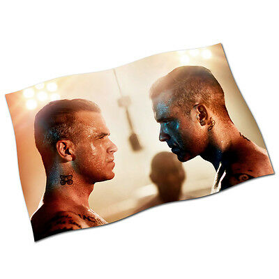 """Robbie Williams Flag Banner 29"""" NEW The Heavy Entertainment Show Love My Life"""