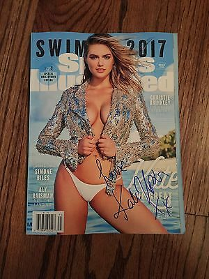 Kate Upton SIGNED 2017 Sports Illustrated Swimsuit Edition - Proof Pics