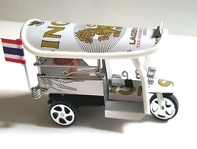 New Tuk Tuk  3 Wheels Handmade From Canned Sing Beer Collectible Souvenir Gift