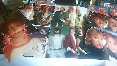Abba Lot 7 Posters Revista Poster Magazine Very Rare 70's 80's Collection