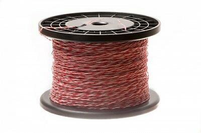 ECore Cables 24 AWG Cross Connect Wire - 1 Pair - Cat5e Rated - Red/White -