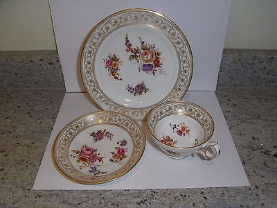 Hammersley Hand Painted Trio Cup Plate Saucer