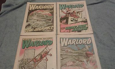 WARLORD COMIC x 4, No's 257, 266, 271, 276,1979/1980,9p, D.C. THOMSOM AND CO LTD