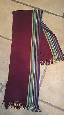 Next mens fashion scarf. purple with multi colour flash, new, unworn