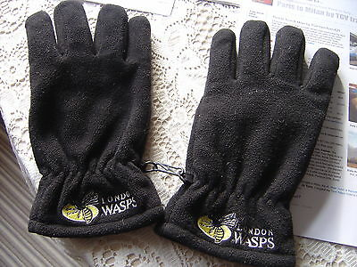 """Gloves """"WASPS"""" warm """"thinsulate"""", black, man's M-L size, clip together, used"""