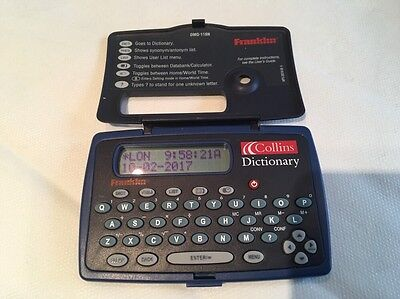 Franklin DMQ-118N Collins Dictionary And Thesaurus