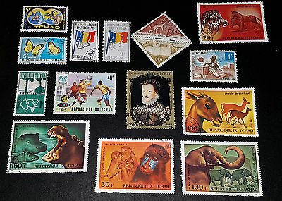 CHAD Mixed Selected Stamps (No 001)