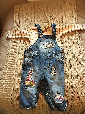 baby boy next dungarees 3-6 months