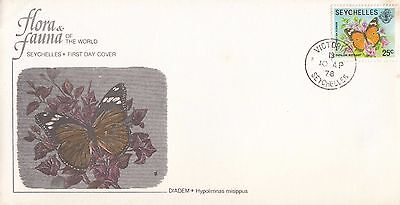 P 789 Seychelles Audobon Society First Day Butterfly cover April 1978