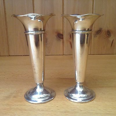Two Vintage Silver Plated Vases